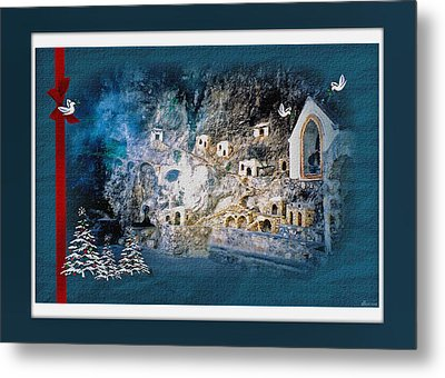 Peace In The Village Metal Print by Donna Proctor