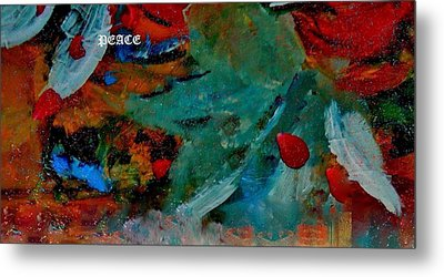 Metal Print featuring the painting Peace by Lisa Kaiser