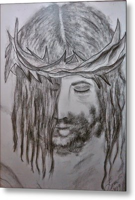 Metal Print featuring the drawing Peace by Lori  Lovetere