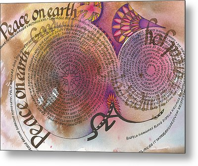 Peace On Earth Metal Print by Amanda Patrick