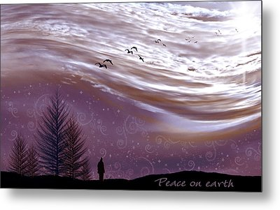 Peace On Earth Metal Print by Holly Kempe