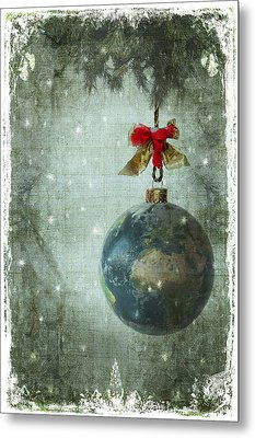 Peace On Earth Metal Print by Marie  Gale