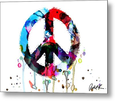 Peace Painting - Signed Art Abstract Paintings Modern Www.splashyartist.com Metal Print