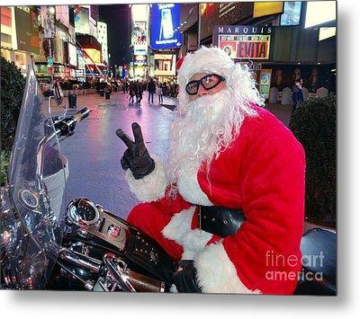 Peace Santa Metal Print by Ed Weidman