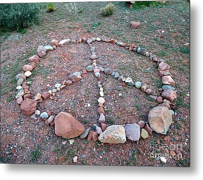Peace Sedona Metal Print by Marlene Rose Besso