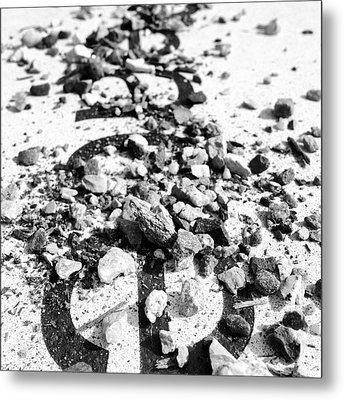 Peace Under The Rubble Metal Print by Christy Beckwith
