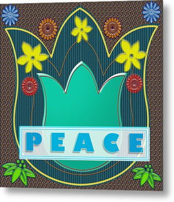 Peace War Political Social Economic Poverty Terrorism Justice Background Designs  And Color Tones N  Metal Print