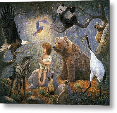 Peaceable Kingdom Metal Print by Gregory Perillo