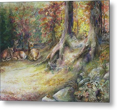 Peaceful Autumn Afternoon Metal Print by Bonnie Goedecke