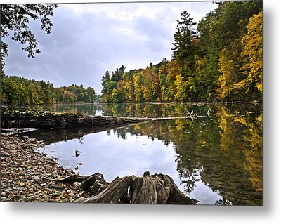 Peaceful Autumn Lake Metal Print by Christina Rollo