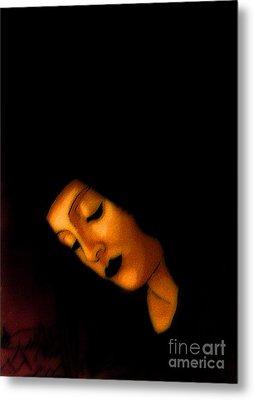 Peaceful Black Madonna Metal Print by Genevieve Esson