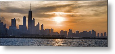 Peaceful Chicago Metal Print