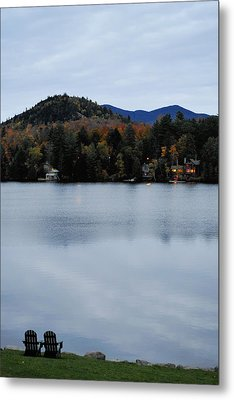 Peaceful Evening At The Lake Metal Print