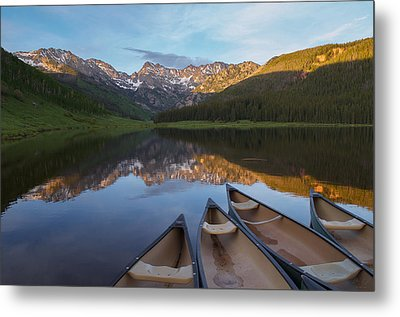 Peaceful Evening In The Rockies Metal Print by Aaron Spong