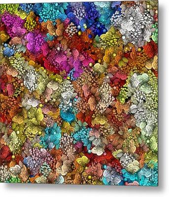 Peaceful Flowers  Metal Print by George Curington