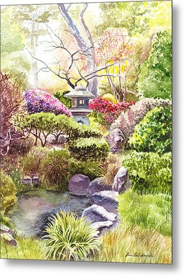 Peaceful Garden Metal Print
