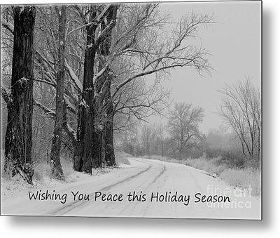 Peaceful Holiday Card Metal Print by Carol Groenen