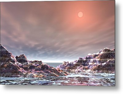 Metal Print featuring the digital art Peaceful by Jacqueline Lloyd