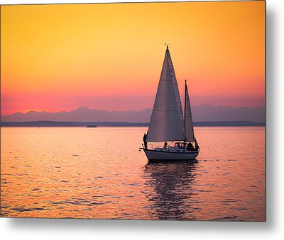 Peaceful Journey Metal Print by Anthony J Wright