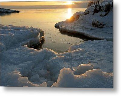 Peaceful Moment On Lake Superior Metal Print