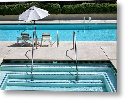 Peaceful Oasis Palm Springs Metal Print by William Dey