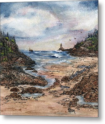 Peaceful Ocean Metal Print by Meldra Driscoll