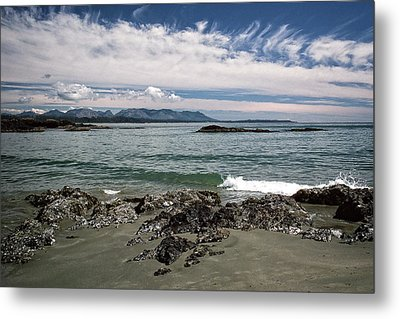 Peaceful Pacific Beach Metal Print