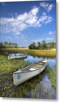 Peaceful Prairie Metal Print by Debra and Dave Vanderlaan