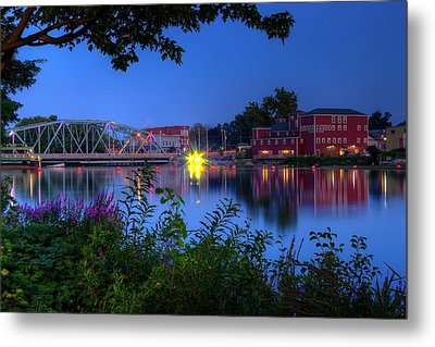 Metal Print featuring the photograph Peaceful River by Dave Files