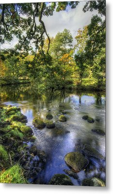Peaceful River Metal Print by Ian Mitchell