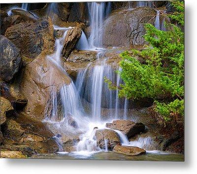 Metal Print featuring the photograph Peaceful Waterfall by Jordan Blackstone