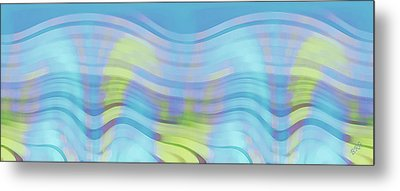 Peaceful Waves Metal Print by Ben and Raisa Gertsberg