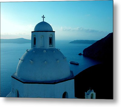 Peacefull Santorini Greek Island  Metal Print