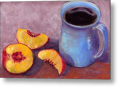 Peach Break Metal Print