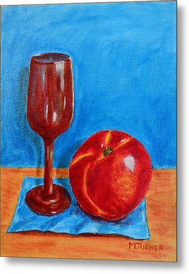 Peach Wine Metal Print