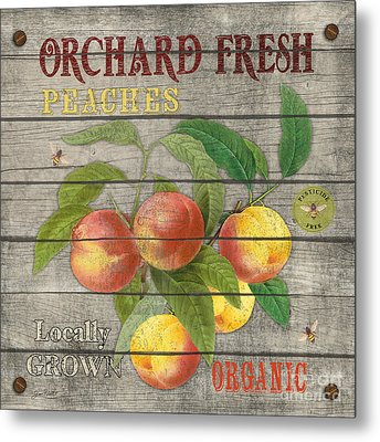 Peaches-jp2676 Metal Print by Jean Plout
