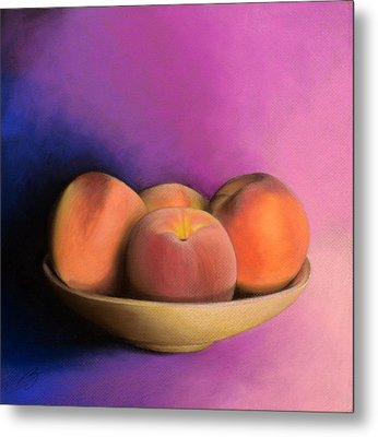 Peaches - Pastel Metal Print