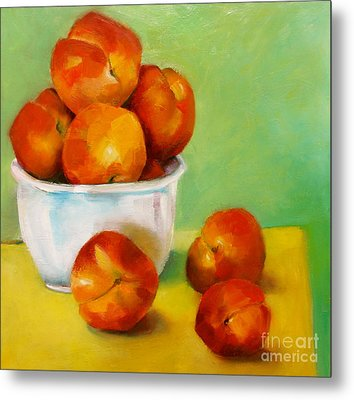 Peachy Keen Metal Print by Michelle Abrams