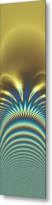 Peacock Abstract 2 Metal Print by Faye Symons