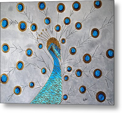 Peacock And Its Beauty Metal Print by Sonali Kukreja