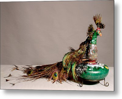 Peacock Metal Print by Beth Gramith