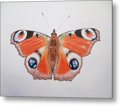 Peacock Butterfly Metal Print by Ele Grafton