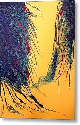 Peacock Metal Print by David Hatton