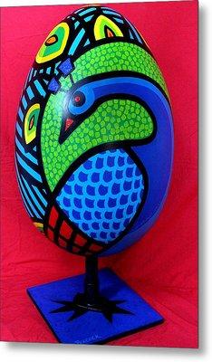 Peacock Egg Metal Print by John  Nolan