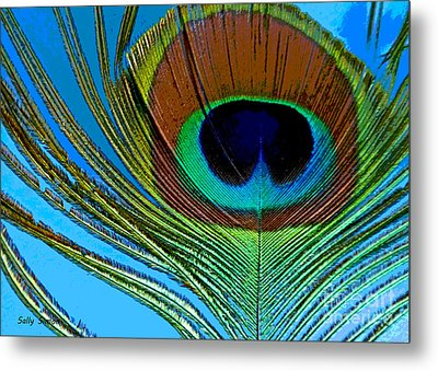 Peacock Feather 3 Metal Print