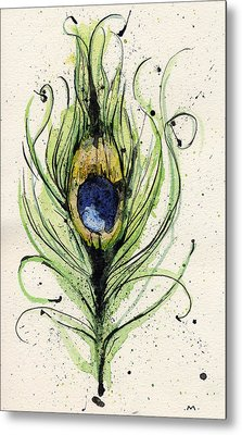 Peacock Feather Metal Print by Mark M  Mellon
