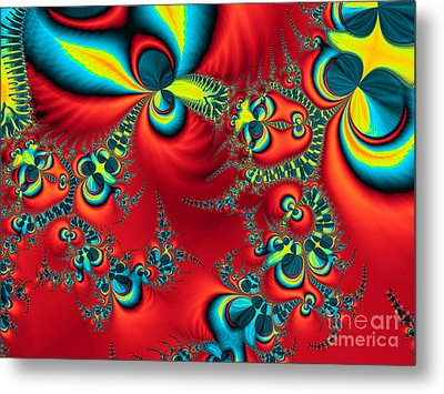 Peacock Fractal Metal Print by Ian Mitchell