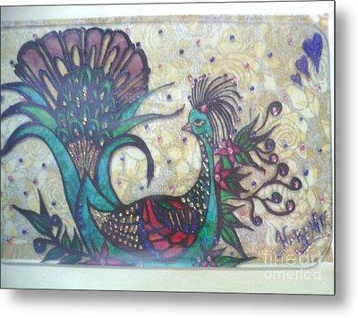 Peacock Goes Classy.. Metal Print by Harshita Chawla