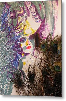 Peacock Lady Metal Print by Charles Dancik
