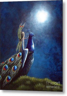 Peacock Princess II By Shawna Erback Metal Print by Shawna Erback